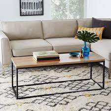 box frame coffee table woodantique bronze west elm buy west elm industrial storage coffee table