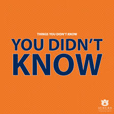 Things You Didn't Know You Didn't Know
