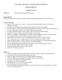 substitute job description tantasquaorg teacher aides job description