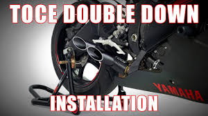 How to install <b>Toce Double</b> Down Exhaust on a 2006-2016 Yamaha ...