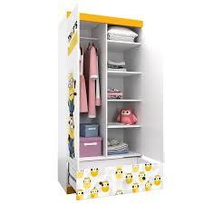 <b>Шкаф двухсекционный Polini kids</b> Fun 890 Миньоны, желтый ...