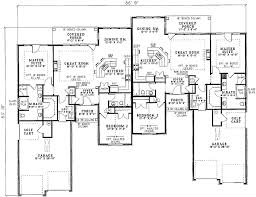 Charming Duplex House Plan   ND   st Floor Master Suite  CAD    Floor Plan