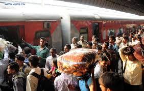 Image result for rush of passenger trains photo