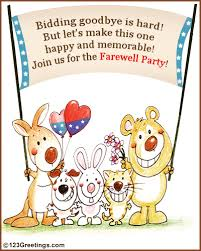 Farewell Party Invitation! Free Other Invitations eCards, Greeting ...