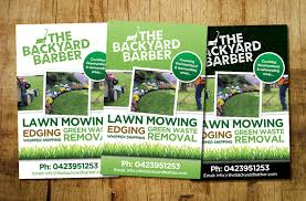 lawn care flyer design galleries for inspiration bold modern landscape gardening flyer design by john mares