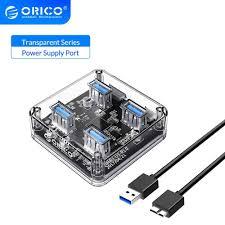 <b>ORICO</b> Desktop Transparent <b>USB</b> 3.0 HUB <b>4 7 Ports</b> 5Gbps High ...