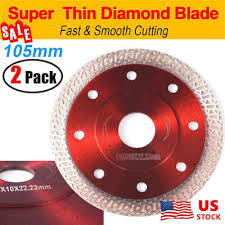 <b>2PCS 105mm</b> Thin Diamond Ceramic Saw Blade Porcelain Tile ...