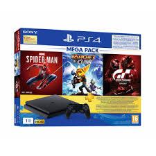 Buy <b>Sony PS4 1TB</b> Slim Bundled Spider-Man,GTS, R&C and PS+ ...