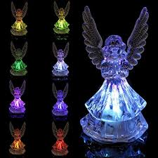 Decorative <b>Lights</b> - Changing Color Acrylic Color Icy Crystal Angel ...