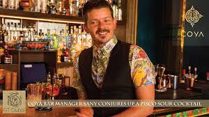 manager sany bacsi creates a chicha pisco sour cocktail at coya bar manager sany bacsi creates a chicha pisco sour cocktail at coya dubai