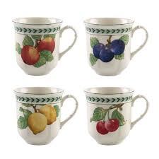 <b>Набор кружек</b> 480 мл 4 предмета <b>French</b> Garden Modern Fruits ...