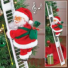 Buy A2Z Plastic Polyster <b>Electric Christmas Santa Climbing Ladder</b> ...