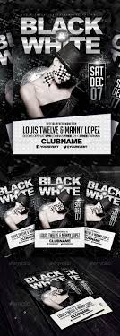 black and white party flyer template fonts creative and flyers black and white party flyer template graphicriver a simple creative and elegant design