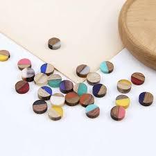 2pcs new design <b>hot sales personality</b> wood and resin stitching ...