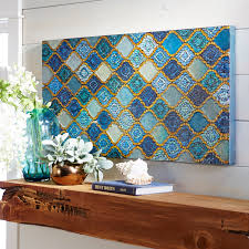mosaic wall decor: how to hang wall art mosaic medley