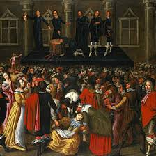 The execution of Charles I, 1649