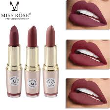 <b>MISS ROSE 12 Colors</b> Matte Lipstick Long Lasting Lip Cosmetic Lip ...