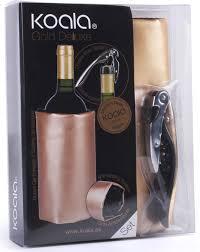 <b>Набор для вина</b> Koala Deluxe, 2 предмета, <b>золотой</b>