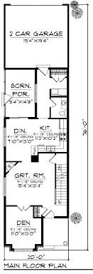 Small Home Floor Plan Narrow Lot for City Houses Architecture        Architecture Large size Main House Floor Plan Narrow Lot Design One Storey House With Car