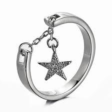 jassy® <b>925 sterling silver star</b> charm adjustable ring at Banggood