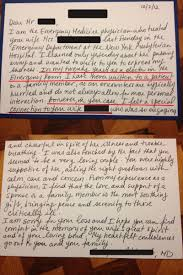 unexpected letter from er doctor make you tear up photo the letter reads
