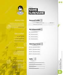 creative curriculum vitae template stock vector image 79027501 creative curriculum vitae template
