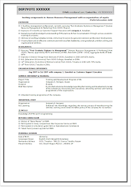 best for mba freshers resume format