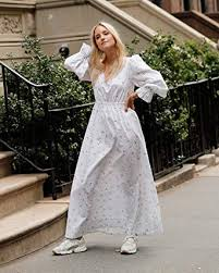 The Drop Women's White Floral Print Loose Fit V ... - Amazon.com