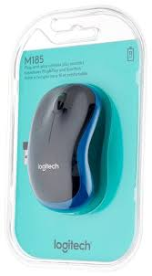 Беспроводная <b>мышь Logitech Wireless Mouse</b> M185 Blue-Black USB