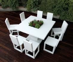 modern patio set outdoor decor inspiration wooden: image of white outdoor furniture ideas
