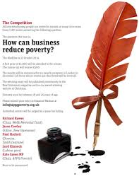 essay how can business reduce poverty the bowden report webb mem 2