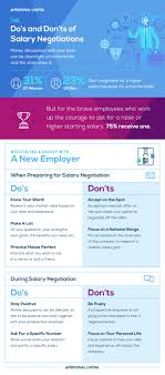 how to negotiate your salary a new employer infographic you should also take a few minutes to look over the below infographic it has a conclusive list of do s and don ts to keep in mind when preparing to