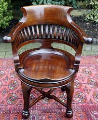 antique mahogany swivel seat desk chair antique office chair