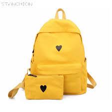 <b>STANCHION</b> Moon Wood Canvas Printed Bag Girls School Heart ...
