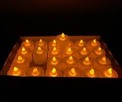 26854 <b>Набор светодиодных свечей</b> 24 штуки, цвет свечения ...