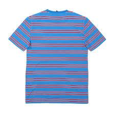 stripe tee blue