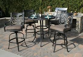 bar height patio chair: patio bar set pub swivel patio chairs tall patio bar set pub