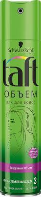 <b>Лак для волос TAFT</b> Объем очень сильная фиксация – купить в ...