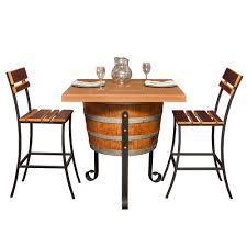 wine barrel outdoor furniture outdoor bistro set arched napa valley wine barrel table