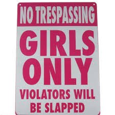 Inspirational Signs For Girls Rooms  No Trespassing  Girls Only Metal Bedroom Door Sign NEW