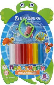<b>Brauberg Пластилин плавающий</b> 6 цветов 225287 — купить в ...