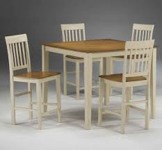 dining room khaki tone: farm house dinette design with cheap  pieces combined wooden kitchen tables two tone white
