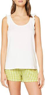 <b>Women's Secret</b> Df <b>Apple</b> Vichy Pj Pyjama Sets, Beige (Beige 96), X ...