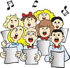 Znalezione obrazy dla zapytania chór, śpiew grafika