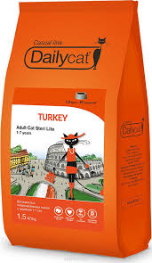 "<b>Корм сухой Daily Cat Casual</b> Line ""Adult Steri Lite Turkey"", для ..."