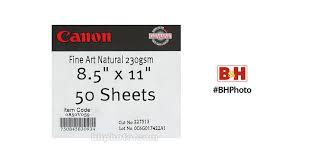 Canon <b>Fine Art Natural</b> White Paper (Matte, 230 gsm) - 0850V059