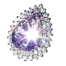 Challyhope <b>Hot</b> Sale! Chic Lucky Natural Silver Gemstone <b>Amethyst</b> ...