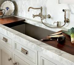 kitchen faucets wall mount: kitchen sink with shelf for cutting board or drain tray lovely wall mounted faucet