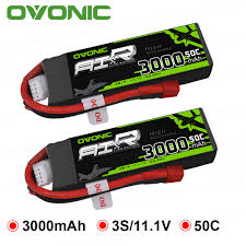 <b>Ovonic 11.1V 3000mAh</b> 50C LiPo <b>3S</b> Battery for Glider RC 3D plane ...