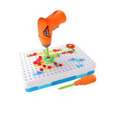 Online Shop Kids DIY Drill <b>Puzzle Toys</b> Baby Electric Drill Screw ...